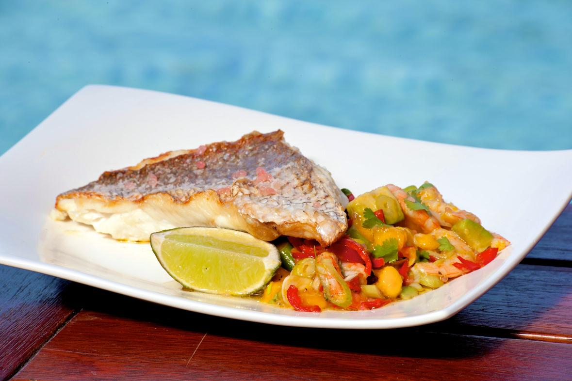 snapper with mango salsa