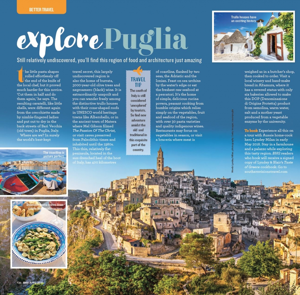 Explore Puglia In March Issue Of Better