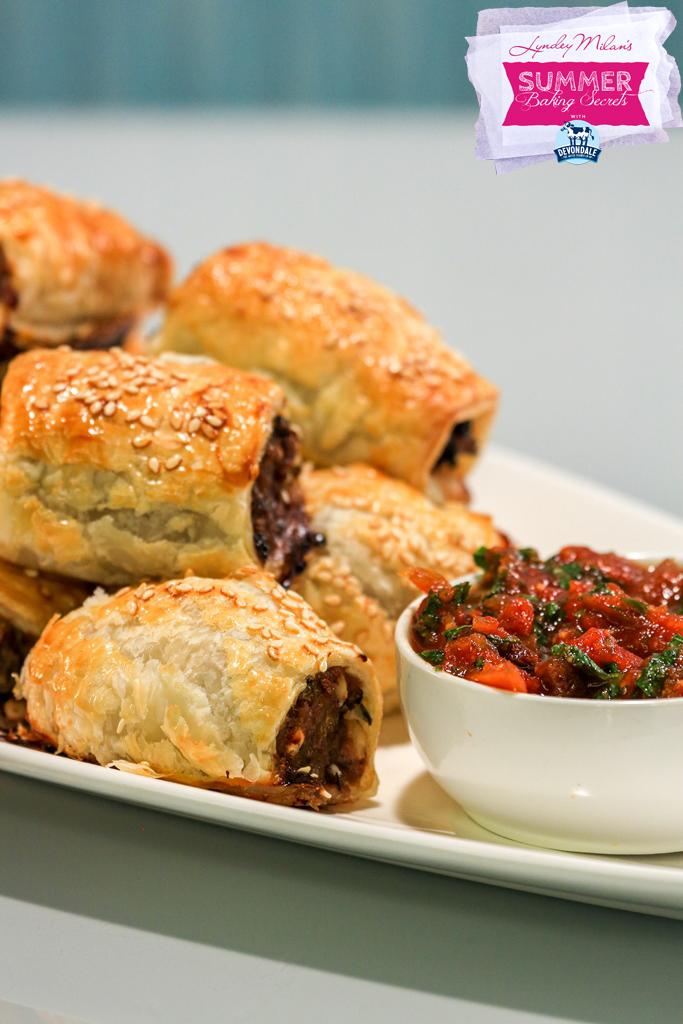 spicy lamb sausage rolls